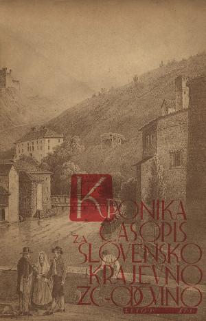 Naslovnica revije Kronika - Časopis za slovensko krajevno zgodovino