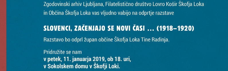 Vabilo na odprtje razstave 11.1.2019 ob 18 uri