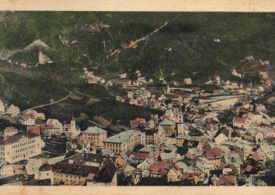 Razglednica Idrije, pred 1919