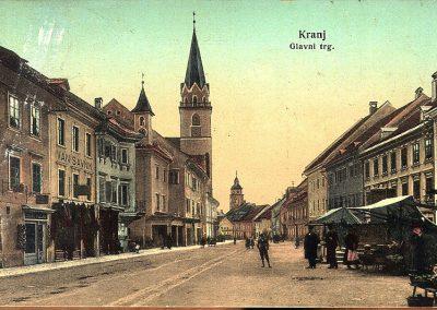 Razglednica Kranja, pred 1909
