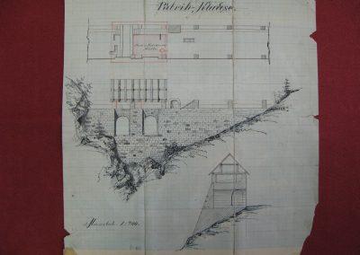 Načrt Putrihovih klavž na Belci, 19. stoletje