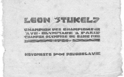 Leon Štukelj - prvak prvakov: spominski listič z olimpijskih iger v Parizu, 1924