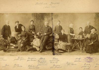 Portret rodbine Zeschko, okoli 1889