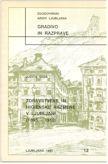 Naslovnica Zdravstvene in higienske razmere v Ljubljani (1895–1910)