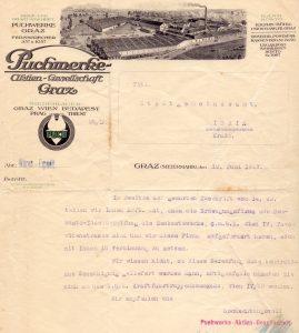 Ponudba tovarne Puch (SI_ZAL_IDR/0129 Občina Idrija, f. 226)